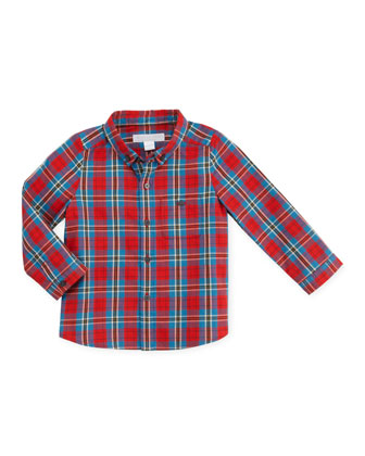 Infant Boys' Plaid Button-Down Shirt, Red, 12-18 Months
