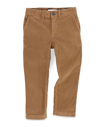 Boys' Corduroy Trousers, Brown, Sizes 4Y-10Y