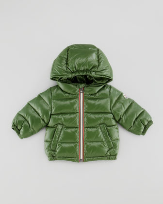 Aubert Quilted Puffer Jacket, Green, 3-24 Months