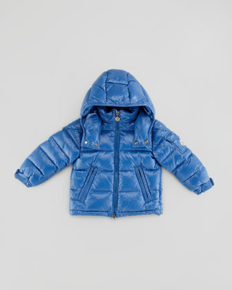 Quilted Hooded Jacket, Blue, Sizes 8-10