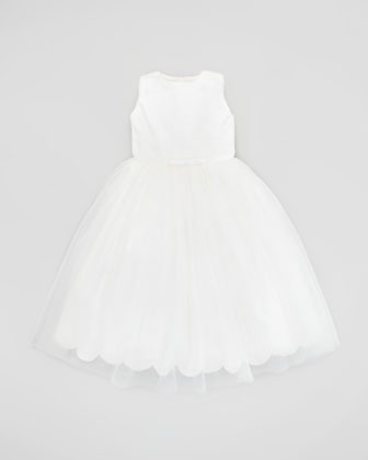 Sequin & Tulle Dress, Ivory, Sizes 2-10