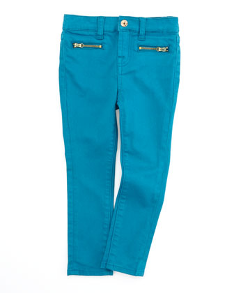 The Skinny Enamel Blue Jeans, Sizes 4-6X