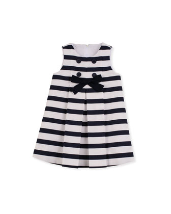 Blue Ribbon Bow Dress, Sizes 12-24 Months