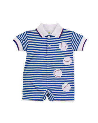 Home Run Short Playsuit, Blue, 3-9 Months