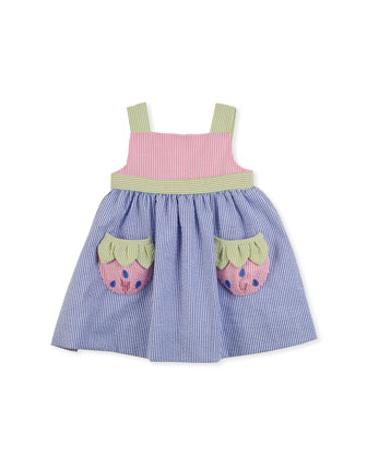 Strawberry Creek Seersucker Dress, Multi, 2T-4T