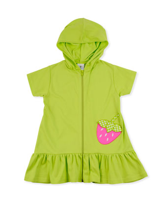 Strawberry Festival Jersey Coverup, Lime, 2T-4T