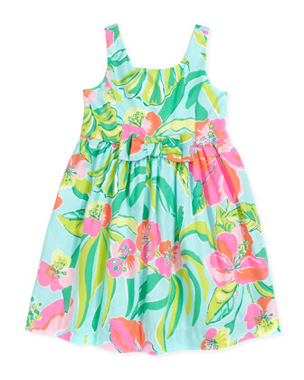 Little Kingston Floral-Print Dress, Blue, Sizes 2-6