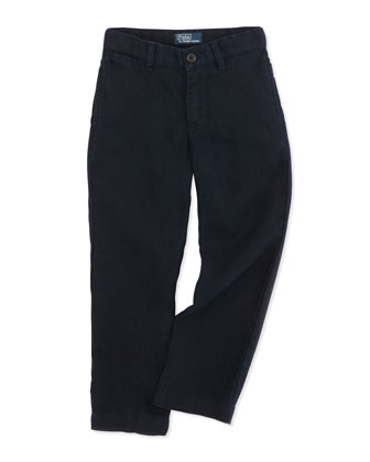Suffield Linen Pants, Aviator Navy, Sizes 4-7