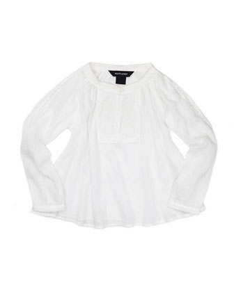 Lightweight Gauze Tunic, White, Sizes 4-6X