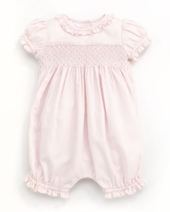 Smocked Bubble Playsuit, 3-9 Months