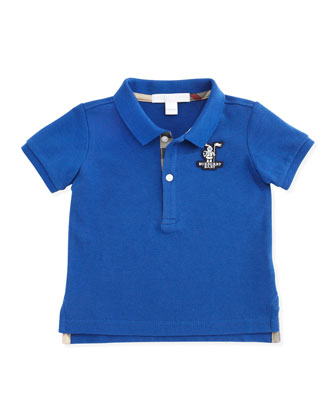 Infant Boys' Check-Trim Polo, 3-18 Months