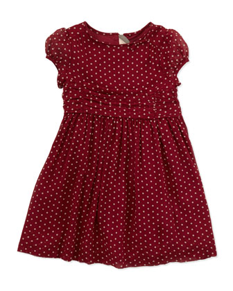 Polka-Dot Silk Dress, 4Y-10Y