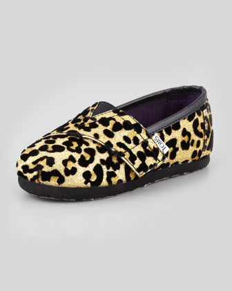 Tiny Cheetah-Print Glitter Slip-On