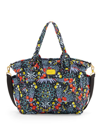 Eliz-A-Baby Pretty Nylon Maddy Diaper Bag, Floral