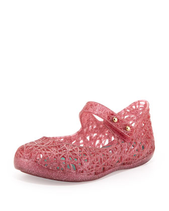 Mini Melissa + Campana Zig Zag IX Jelly Mary Jane, Pink