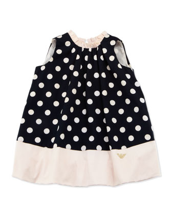 Sleeveless Polka-Dot Bubble Dress, 3-24 Months