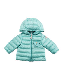 Milou Long Season Packable Jacket, Turquoise, 3-24 Months