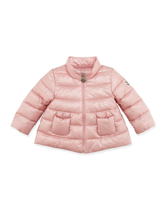Joelle Quilted Tech Jacket, Light Pink, 3-24 Months