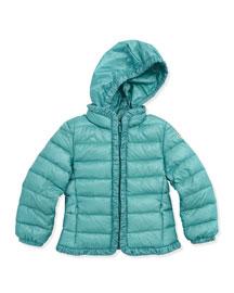 Mayotte Long Season Packable Jacket, Turquoise, Sizes 2-6