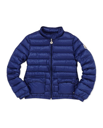 Lans Quilted Tech Jacket, Royal, Sizes 8-10