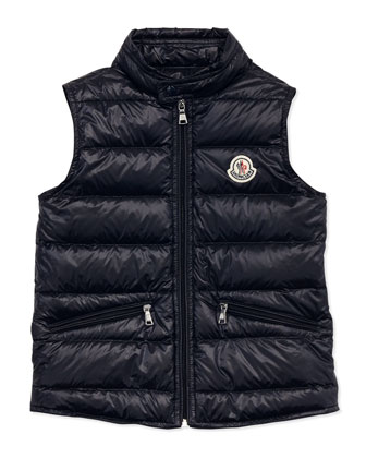 Gui Lightweight Puffer Vest, Navy, Sizes 2-6