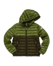 Emeric Long Season Packable Jacket, Dark Green, Sizes 8-10