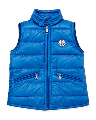 Gui Lightweight Puffer Vest, Blue, Sizes 8-10