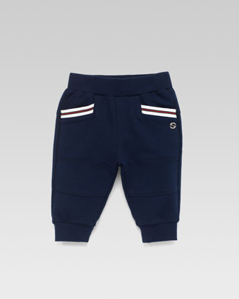 Jersey Jogging Pants, Blue
