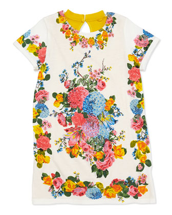 Marnie Floral-Print T-Shirt Dress, Sizes 2-10