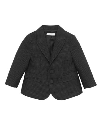 Pindot and GG Jacquard Jacket, Black, 0-24 Months