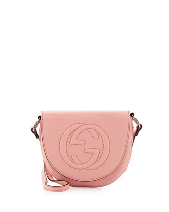 Girls' Interlocking G Messenger Bag, Light Pink