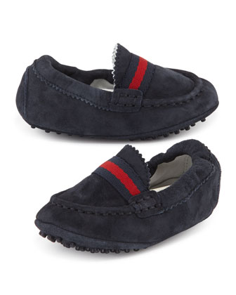 Baby Dandy Driving Shoes, Navy