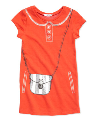 Trompe l'Oeil Purse T-Shirt Dress, Sizes 6-10