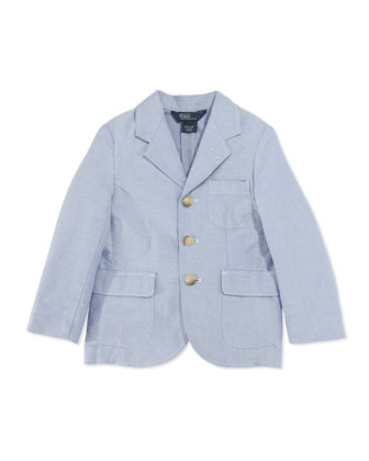 Oxford Sport Coat, Blue, Boys' 4-7