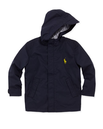 Stadium Rain Jacket, Navy, Sizes 4-7