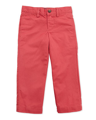 Suffield Crinkled Cotton Pants, Red, Boys' 4-7