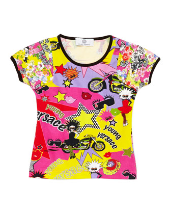 Girls' Pop Art Tee, Multi, Sizes 2-6