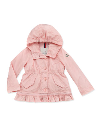 Noemie Nylon Hooded Jacket, Light Pink, Girls' 2T-6