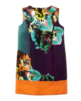 Sea Blossom Shift Dress, Multi, Sizes 8-10