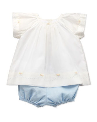 Flutter Blouse & Bloomer Set, 3-12 Months