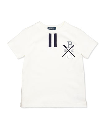 Short-Sleeve Polo Tee, White, Boys' 4-7