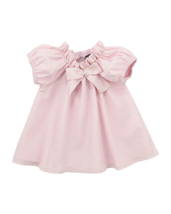 Lunette Cotton/Silk Dress with Bloomer, Light Pink, 3-18 Months