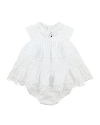 La Blanche Dress with Bloomers, Papaye, 3-18 Months