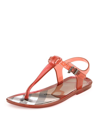 Jelly Thong Sandals, Pink, Youth