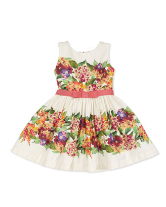 Vintage Floral Party Dress, Multi, Sizes 8-10