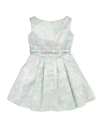 Peppermint Brocade Party Dress, Sizes 8-10