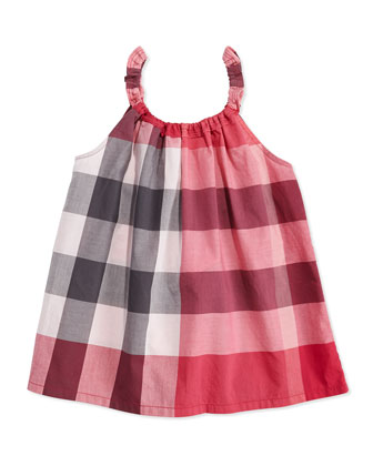 Check Tank Top, Girls' 4Y-10Y