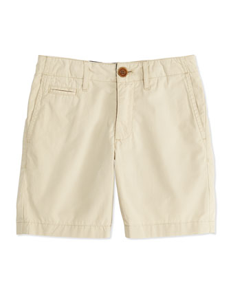 Boys' Chino Shorts, Tan, 4Y-10Y