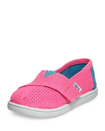Freetown Two-Tone Mesh Slip-On, Pink, Tiny
