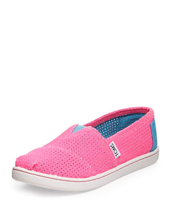 Freetown Two-Tone Mesh Slip-On, Pink, Youth